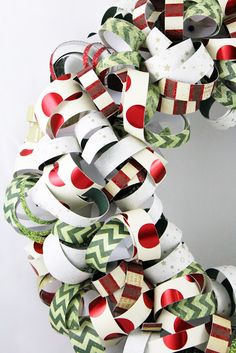 Craft-e-Corner Blog * Celebrate Your Creativity: A Wreath For Every Season -DIY Curled Paper Wreath