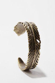 Metal Feather Cuff Bracelet  $20.00