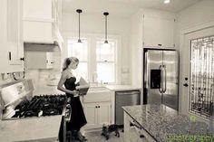 Nicole Curtis the Rehab Addict - glamour photo shoot - Minnehaha kitchen with Polly