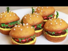 HOW TO MAKE CHEESEBURGER CUPCAKES - NERDY NUMMIES - YouTube