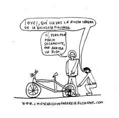 Chiste de la rueda trasera pinchada