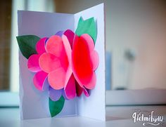 Helmihytti: DIY - Kukkakimppukortti äitienpäiväksi Diy Crafts, 3d, Cool Stuff, Make Your Own, Homemade, Craft, Diy Artwork, Diy Crafts Home