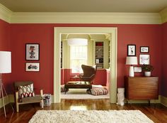Cat Ruang Tamu 2 Warna Merah Dan Krem Wall Paint Colors For Living