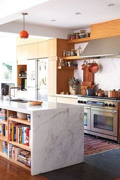 marble kitchen island and countertops