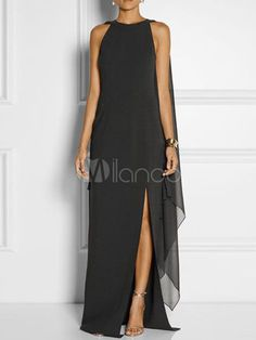 Women Convertible Slit Side Sexy Chiffon Maxi Party Dress - Black, S Cheap Party Dresses, Party Dresses Online, Dress Online, Maxi Robes, Chiffon Maxi Dress, Maxi Dresses, Fashion Dresses, Pleated Maxi, Summer Dresses