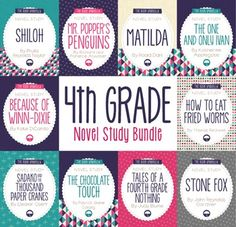 Novel study bundle includes 10 of our novel studies selected for fourth grade students.Save 30% with the purchase of this bundle!