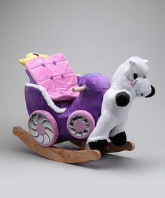 Take a look at this Princess Carriage Rocker by Rockabye on #zulily today!