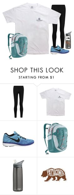 """""""my sad little ootd"""" by lindsaygreys ❤ liked on Polyvore featuring Donna Karan, NIKE, The North Face, CamelBak and Patagonia"""
