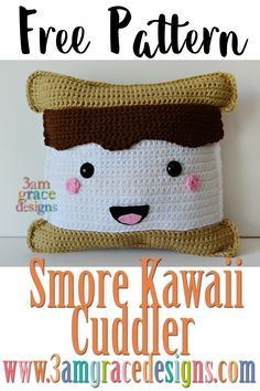 Free Smore crochet amigurumi pattern kawaii cuddler