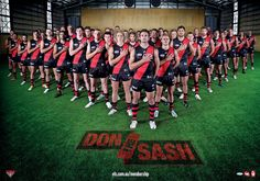 Don the Sash, by Essendon FC in the AFL. A poster design that fans can own.