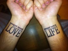 Mumford and Sons lyrics as a tattoo - they're actually awesome enough to warrant it.