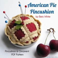 Oh my, I love pie! If you feel the same way, you'll want to make your own American Pie Pincushion.     This cutie-pie is made out of wool blend felt with a mason jar lid, serving as the pie tin. How Americana is that. If you joined my Holiday Stitch-along Ornament Club last year, you'll remember ...