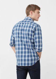 Slim-fit madras check shirt | MANGO MAN