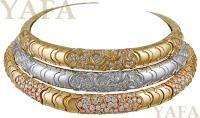 MARINA B. Tri-Color Diamond Onda Choker Necklaces