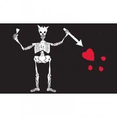 In Edward Teach Blackbeard Skeleton Pirate Polyester 12x18 Inch Flag Outdoor Banner Fragrant Flavor