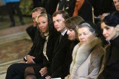 duques de Castro, duques de Noto, duquesa de Calabria y Clotilde de Saboya, durante la misa por la beatificacion de la Reina Maria Cristina de las Dos Sicilias