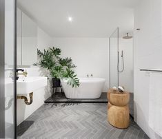 Perfect master bath. Except need a vanity with storage and counter space