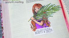Video Tutorial:  Paper Art In Bible Journaling ~ Philippeans 4:8