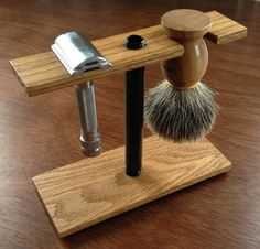 Homemade Red Oak Shaving Stand