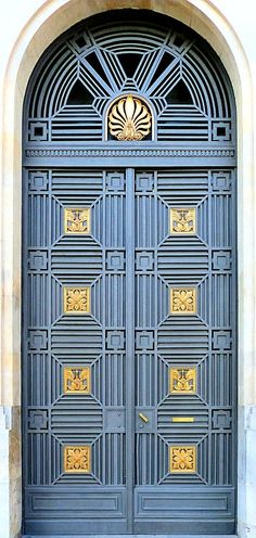 Door created by architect Josep Goday in Barcelonia, Spain. - photo by Arnim Schulz