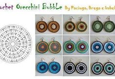 crochet jewelry Diy Crochet Jewelry, Crochet Bracelet, Crochet Accessories, Jewelry Crafts, Crochet Chart, Love Crochet, Bead Crochet, Crochet Hooks, Diy Earrings