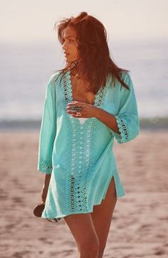 Take me to the beach... in that coverup.