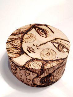 Beautiful Woodburning Trinket Box