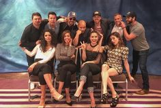 Credit to owner. Yuri Sardarov, Jon Seda, Patrick Flueger, Joe Minoso, Jesse Lee Soffer, David Eigenberg, Colin Donnell, Miranda Rae Mayo, Torres DeVitto, Sophia Bush and Marina Squerciati at the DMWC convention in Paris, May 2017.