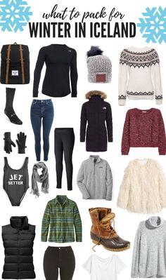 What to Pack for Winter in Iceland - Girl Meets World travel iceland packing 38491771802238909 Winter Vacation Packing, Winter Travel Outfit, Packing List For Travel, Winter Outfits, Packing Tips, Travel Tips, Travel Packing Outfits, Europe Packing, Traveling Europe