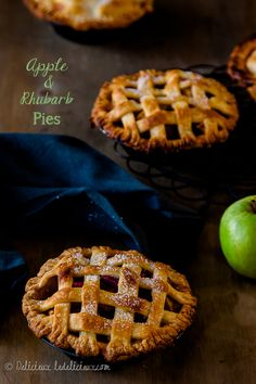 Apple and Rhubarb Pies recipe | Delicious Everyday deliciouseveryday.com
