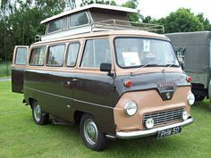126 Ford Thames 400E 15cwt Camper Van (1957-65) | by robertknight16 Classic Cars British, Classic Trucks, Camper Caravan, Camper Van, Classic Campers, Old Lorries, Honda Ridgeline, Day Van, Cool Campers