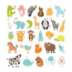 Vector Art : Cute animals collection
