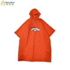 """Don't be rained out at your next outdoor event with The Northwest Company deluxe team rain poncho. Adult size poncho measures 44"""" in height and 49"""" in width and is made of durable PEVA weather-proof construction. A combination of the plastic snaps that close securely at your sides with the adjustable drawstring hood work to keep you dry. Your favorite team logo is emblazoned on the front center. Includes a drawstring mesh reusable carrying pouch making this easy to carry with you wherever you go Rain Poncho, By Your Side, Team Logo, Nfl, Pouch, Mesh, Weather, Construction, Plastic"""