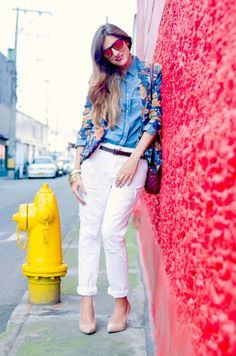 #blogger #style #red #ripped #jeans #cool