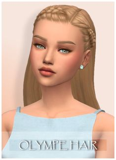The Sims 4 Maxis Match Girls Hair! - All About Hairstyles Sims Four, Sims 4 Teen, Sims 4 Toddler, Sims 4 Mm Cc, Maxis, Los Sims 4 Mods, Sims 4 Game Mods, The Sims 4 Packs, The Sims 4 Cabelos