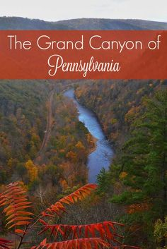 """Fall colors + leaf peeping in Pennsylvania. Visits to the Pine Creek Gorge (the """"Grand Canyon of Pennsylvania""""), the Allegheny National Forest, and Bethlehem in the Lehigh Valley."""
