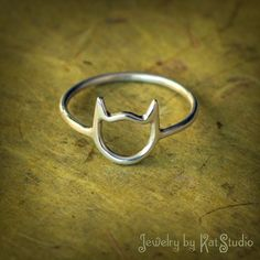 Cat Ring handmade Sterling Silver 925 Jewelry by by Katstudio