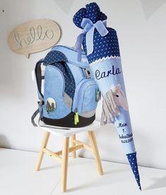 School bag horse, sky rice bear, light blue, girl, sugar bag Blue Things sky blue q color es Bucket Bag, Sky Ride, School Pack, First Day School, Cute Horses, Fabric Tape, Horse Head, Blue Tones, Blue Bags