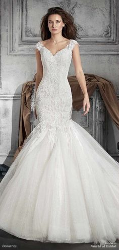 Demetrios 2018 Wedding Dress Fabulous In Its Understated Charm This Mermaid Look Features Exquisite
