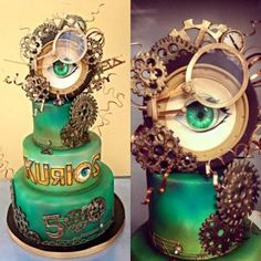 Cake for Cirque Du Soleil by Dina Cimarusti Art BIG fan of Dina! She does amazing cakes AND she's also a SFX artist (you may have seen her on FaceOff,. Crazy Cakes, Fancy Cakes, Fondant, Beautiful Cakes, Amazing Cakes, Fantasy Cake, Cake Shapes, Sculpted Cakes, Specialty Cakes