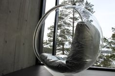 bubble & finnish nature in the background