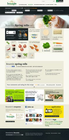 Boursin #webdesign