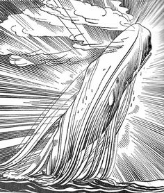 Moby Dick Breaching - Rockwell Kent