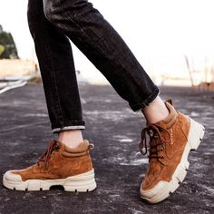 Item specifics Closure Type: Lace-Up Boot Type: Snow Boots Toe Shape: Round Toe Season: Cow Leather, Leather Heels, Suede Leather, Big Man Suits, Fashion Boots, Mens Fashion, High Shoes, Boot Types, Martin Boots