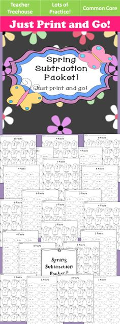 This quick, no prep addition packet contains 23 pages of practice. • Numbers 0-20 • -1,-2,-3,-4,-5,-6,-7,-8,-9,-10 • Two versions for each (one vertical and one horizontal). • Cover page for student name