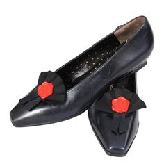 Karl Lagerfld Flats, Never Worn | From a collection of rare vintage shoes at https://www.1stdibs.com/fashion/accessories/shoes/
