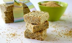 Here is a recipe for Raw Hemp and Chia Seed Bars, which is a healthy and nutrient-dense raw food snack. They pretty much have all my favorite ingredients…hemp seeds, chia seeds, coconut oil,… Chia Seed Bars Recipe, Hemp Seed Recipes, Hemp Recipe, Healthy Vegan Dessert, Healthy Bars, Raw Vegan Recipes, Healthy Snacks, Vegan Foods, Healthy Breakfasts