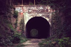 Must see haunted Ohio destinations - Moonville tunnel in the Zaleski Forest.