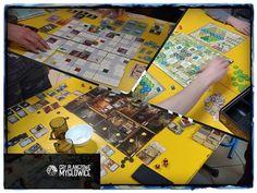"""Super dzisiaj!! Dzięki!!! Zapraszamy na """"nockę"""" :) #boardgames #gryplanszowe #tabletopgames #planszówki #planszowki #foodchainmagnate #posiadloscszalenstwa #posiadłośćszaleństwa #mansionofmadness #zamkiburgundii #castlesofburgundy #splotterspellen"""
