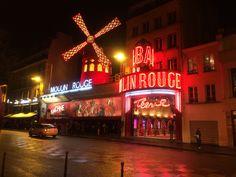 Famous Moulin Rouge, Paris